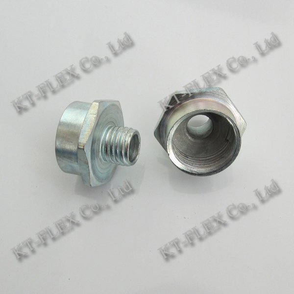Metric thread galvanized pipe coupling male female adapter