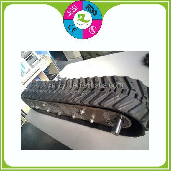 Different type durable silicone rubber track