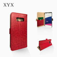 Simple design corgeous smart pu leather case cover for Samsung S8 2017