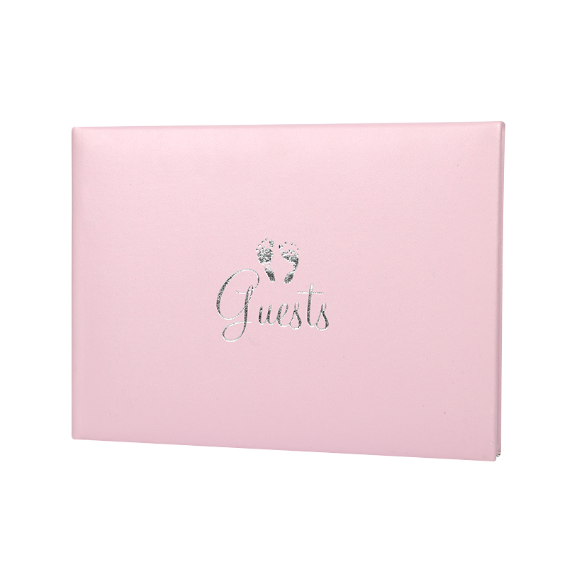 pink new born baby celebration guest book wholesale