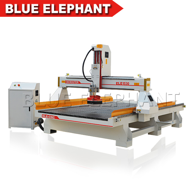 Hot sale ele 1530 cnc 3d wood carving machine price / 3 axis cnc router high big z axis on promotion