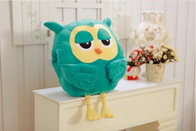Owl Blue Cute Pillows For Chairs 3D Hot Product Pillow Smile PP Cotton Emoji Pillow Octopus Plush Toy