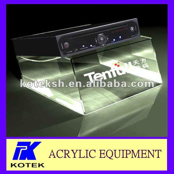 acrylic transparent logo VCD display stand