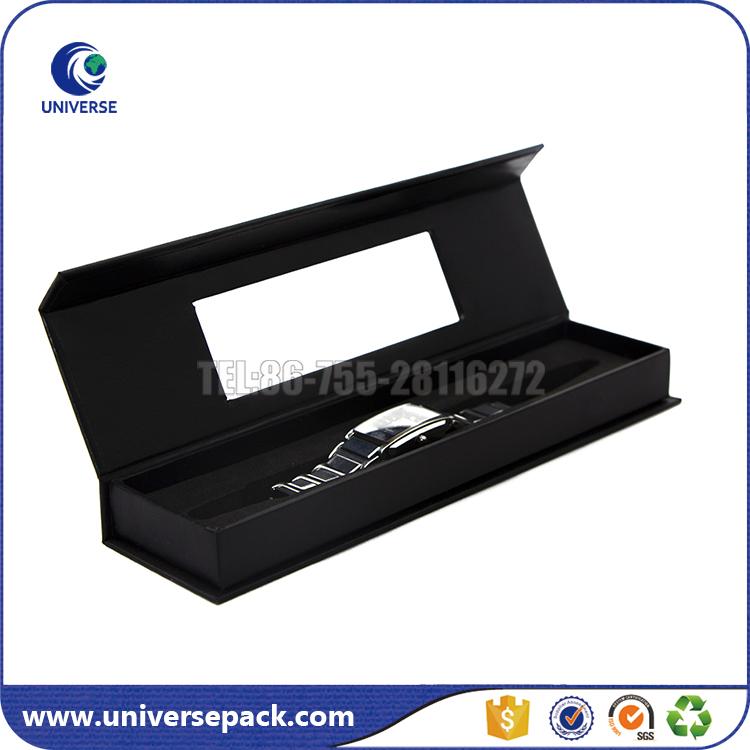 Noir rectangle carton montre la bo te avec fen tre caisses for Fenetre rectangle