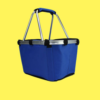 whole sale price aluminum frame shopping bag with handles