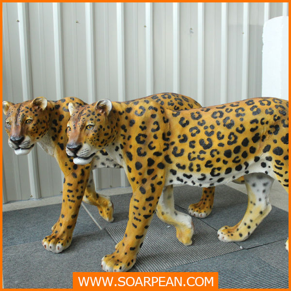 Life Size Resin Leopard Statue For Decoration