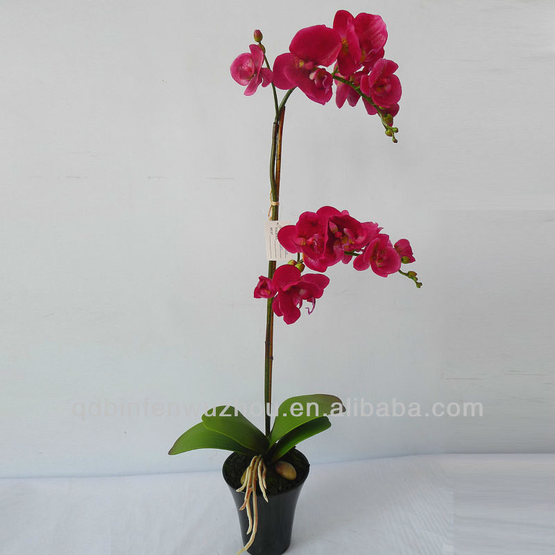 Artificial Handmade Flowers Potted Orchids