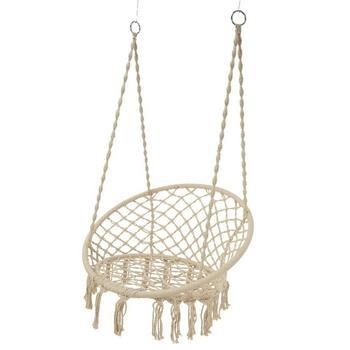 Bamboo Round Rope Hammock Swing Macrame Hanging Chair