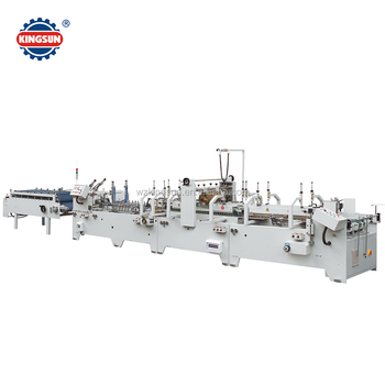 GDHH-1200 pre-folding and bottom lock box three point automatic carton gluer machine