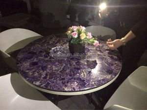 Amethyst Gemstone Tables Tops /marble countertop/granite slab