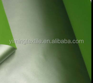 Plain Woven 170t 190t 210t Taffeta 100 Polyester Silver Reflective Coated Blackout Curtain Fabric