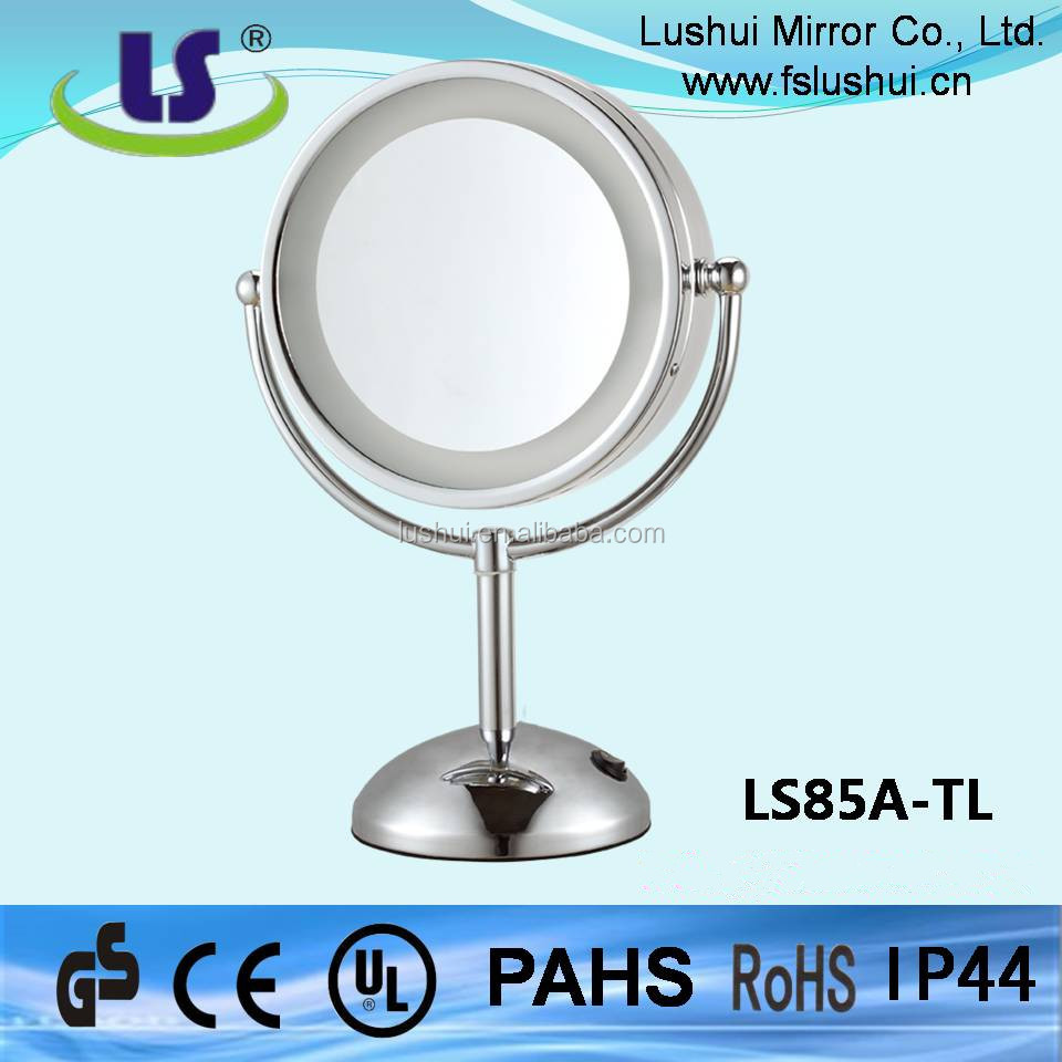 LED lighting round makeup bathroom dressing room mirror