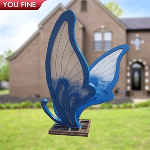 Outdoor Gallery Stainless Steel Butterfly Sculpture