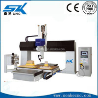 5 axis cnc machining center for wood foam stone mould sculpture statue