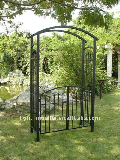 Wrought Iron Garden Arch With Gate Lmgrg 51000   Buy Wrought Iron Garden  Arch With Gate,Metal Garden Arch With Gate,Metal Garden Arch Product On  Alibaba.com