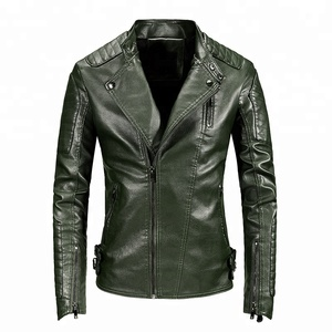 European Style Mens Jacker Black Leather Jackette Zipper Hip Hop Rock Motocycle Leather Jackets Wholesale