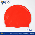 High quality factory supply highly stretchable Swimming Waterproof Silicone Sports Adult 50gs Custom Swim Cap Design