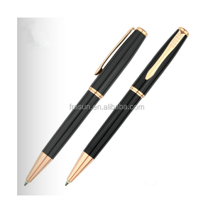Gold parts black copper luxury custom ball metal pen