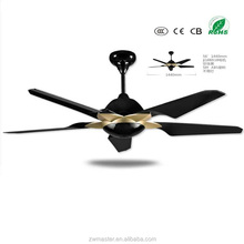 hot season no light 5 blades ABS ceiling fan for balcony