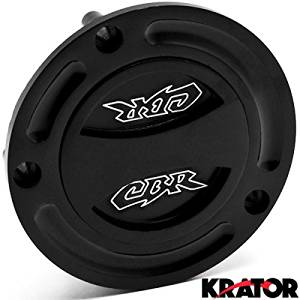 Krator Black Keyless Gas Cap Twist Off Fuel Tank Cap Logo For Honda RVF750R 1994