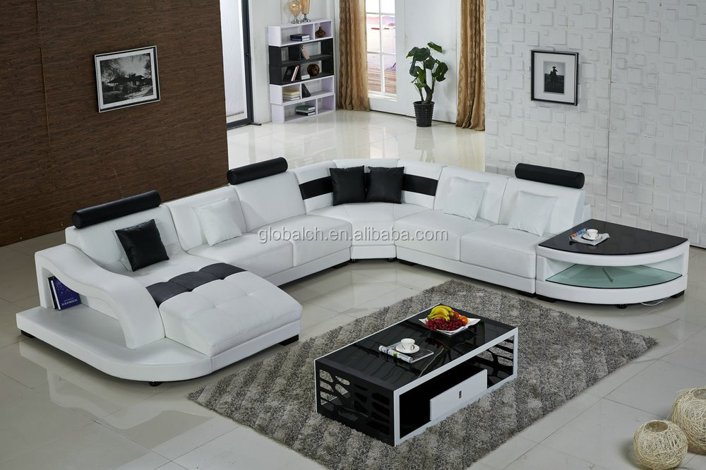 2015 New Sofa Design Modern Leather