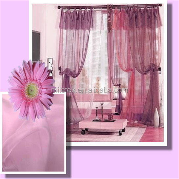 100% Polyester Silk Woven Wedding Embroidery Sheer Voile