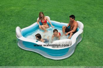 Intex swim family lounge pool center pools buy intex swim family lounge pool intex swim family for Intex swim centre family lounge pool cover