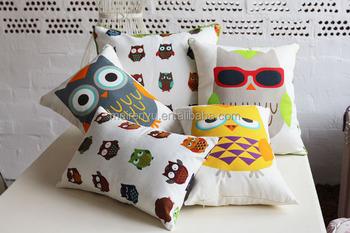 Kinderen dier cartoon ontwerp kussen hoge kwaliteit linnen stof