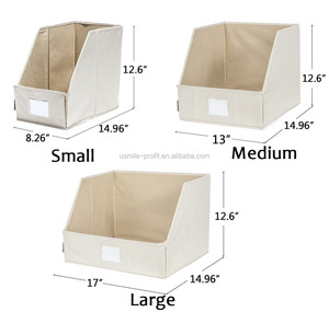 Foldable Closet Organizer Trapezoid Storage Box, Canvas Storage Cubes For Sheets, Blankets, Towels, 3-Size