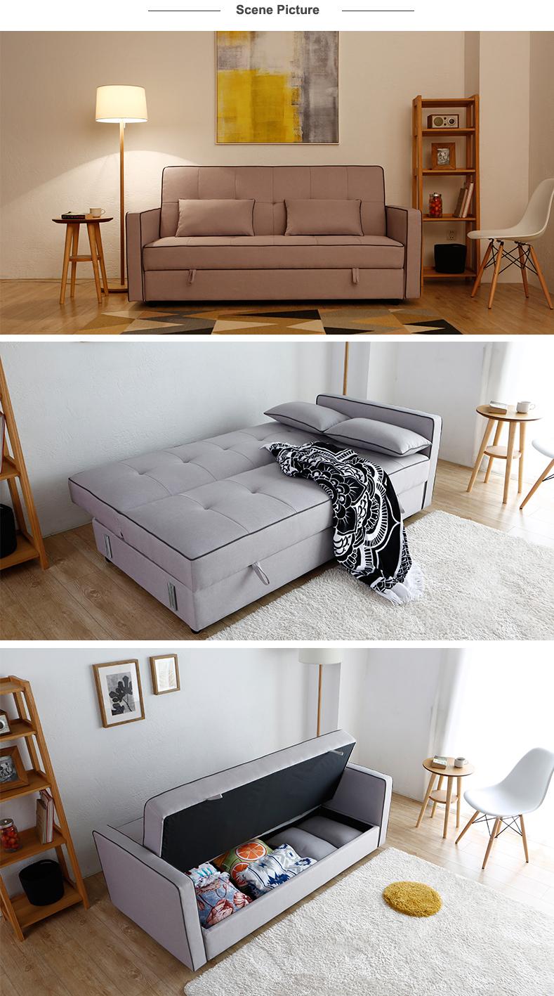 Home Used Living Room Modern Design Combined Fabric Sofa Bed Elegant Upholstery Beige Corner Settee Buy Fabric Sofa Bed Modern Fabric Sofa
