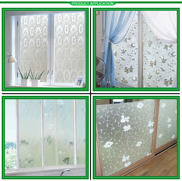 Home Glass Film Window Decorative Sticker Static Mosaic Frosted PVC No
