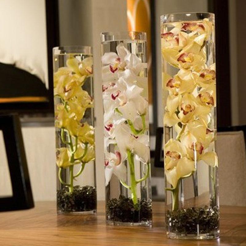 h j clair transparent verre atterrissage grand vase. Black Bedroom Furniture Sets. Home Design Ideas