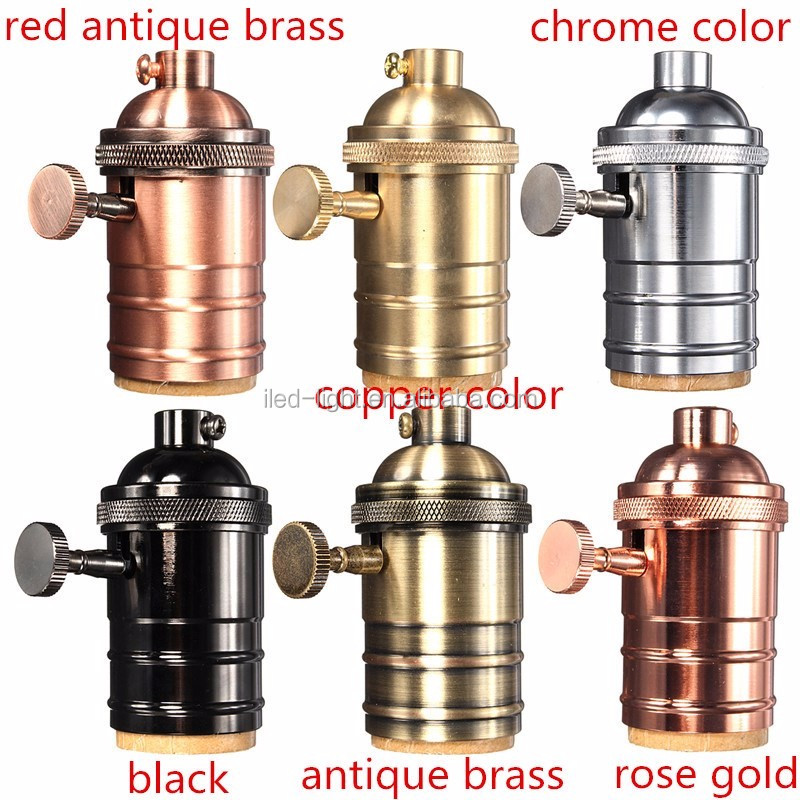 2017 Hot Sale Made of Brass with ceramic core base socket vintage lamp holder for pendant lighting