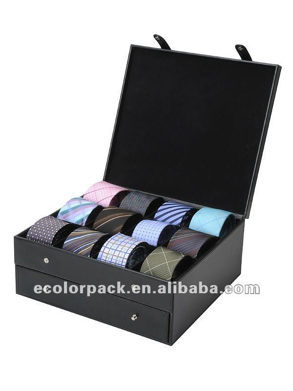 High Quality Permium Handcrafted Wooden Tie Storage Box For Bow Tie