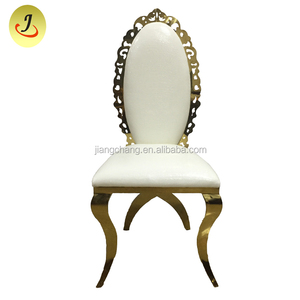 On sale gold Stainless Steel Wedding Royal Chair JC-SS828