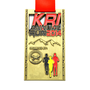 Hot sale custom design antique finishing annual sports run medal
