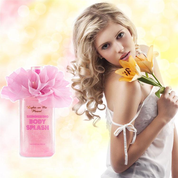 Wholesale elegant OEM/ODM cheap Shimmering long lasting perfumed body mist body splash