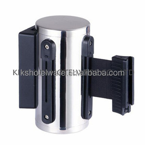 Retractable mechanism/cassette belts barrier/Wall Mounted retractable belt barriers