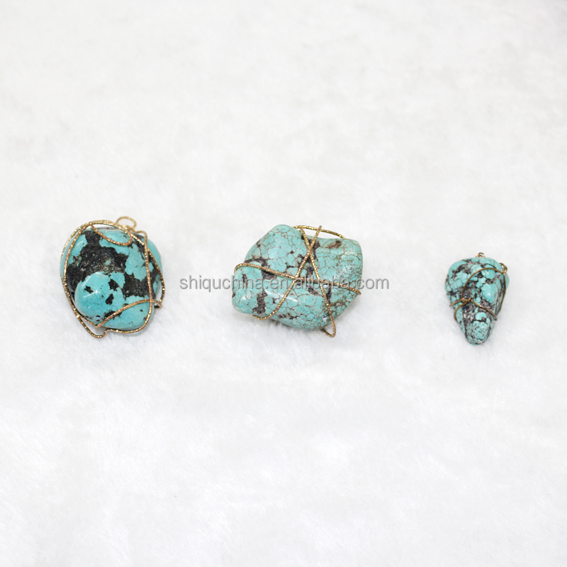 Wholesales turquoise nature stone as gift to express love ,special pendant