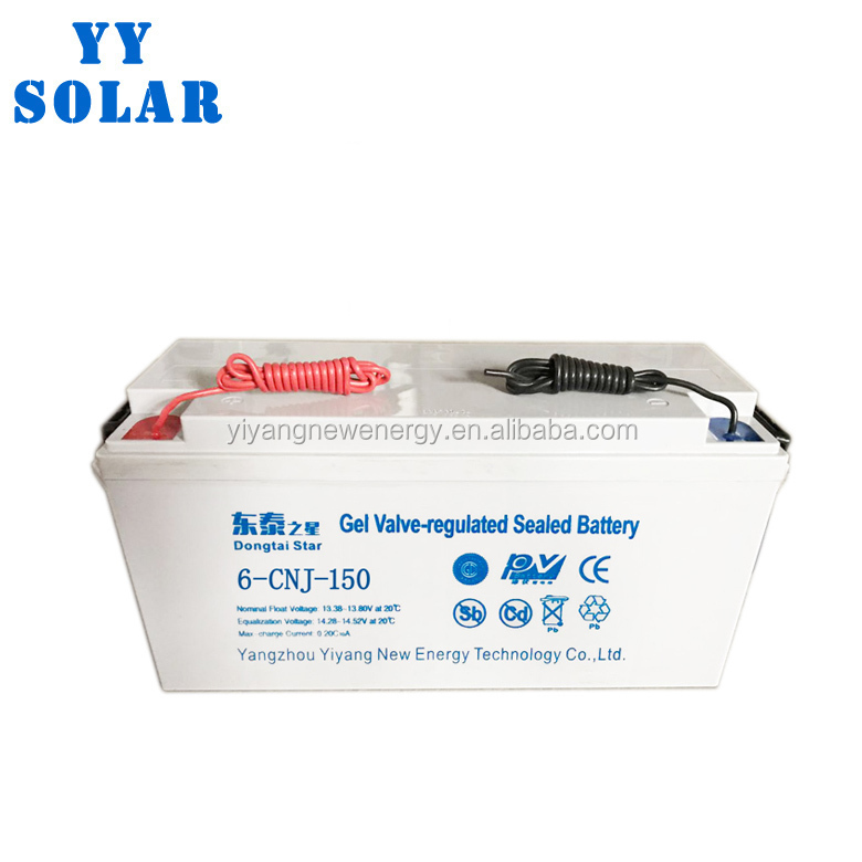 China manufactory sealed lead acid battery 12v 150 ah solar battery