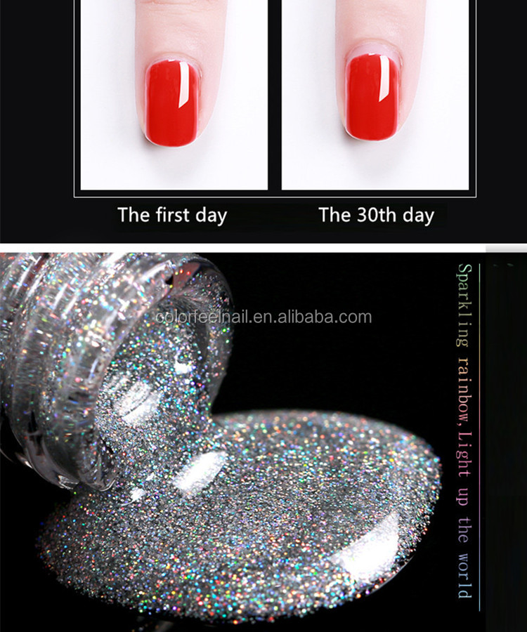 Rainbow glitter polish gel nail polish china