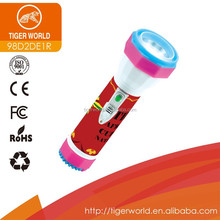 Chinese manufacturers OEM tiger world dry battery 3 led hand charge torch light for US market
