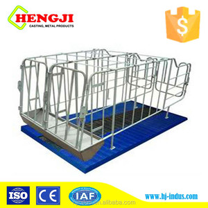 Wholesale hot dip galvanized serviceable gestation crate sow stall