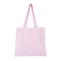 Customized logo printing promotional recyclable 12oz pink black white cotton canvas tote bag