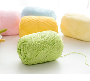 4.5NM natural cotton and bamboo fiber hand knitting yarn for shawl and sweater