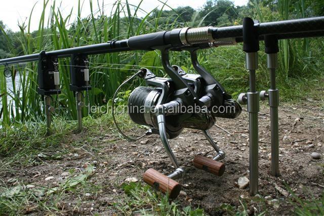 Hirisi Tackle 2x Carp Fishing Bank Sticks Fishing Rod Support Telescopic