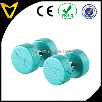 e06f7647a5a28 Turquoise Fake Cheater Illusion Tunnel Ear Plug Screw Stud Earrings - Buy  Screw Stud Earrings,Unique Stud Earrings,Turquoise Stud Earrings Product on  ...