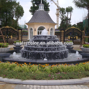 stone/sculpture falling water decorate garden fountain