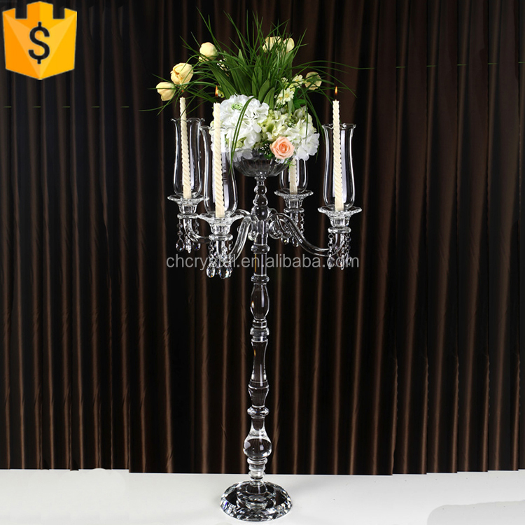 crystal candelabra with flower bowl MH-TZ0223