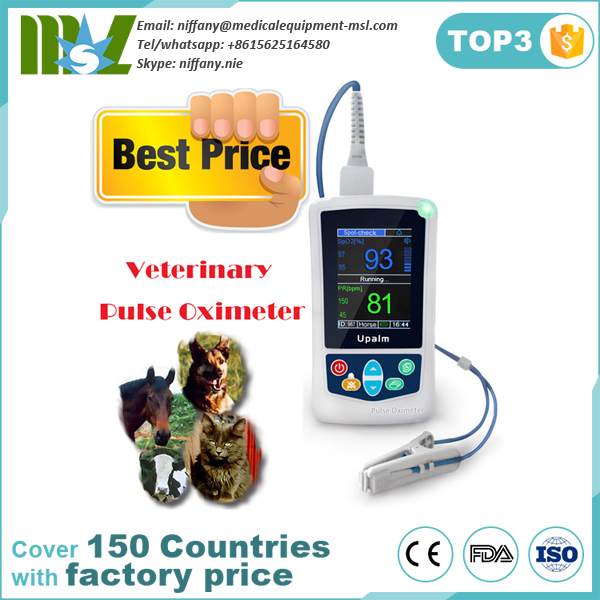 Factory price veterinary oximeter pulse for dogs,cats and horses MSLXV01